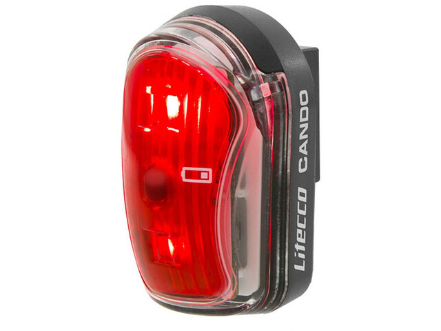 Litecco Cando USB Fietsverlichting rood/zwart